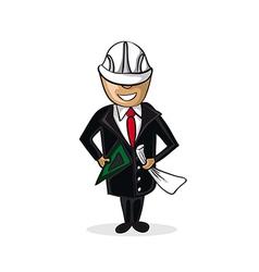 Professional architect man cartoon figure vector