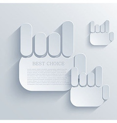 Thumb up icon background eps10 vector