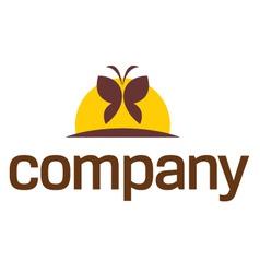 Wellness butterfly logo vector