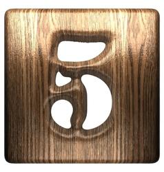 Wooden figure 5 vector