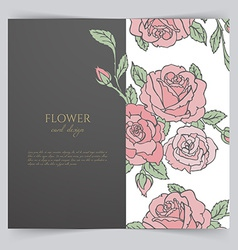 Card template with floral vector