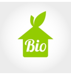 Bio green houses icons vector