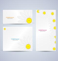 Flowers brochure template vector