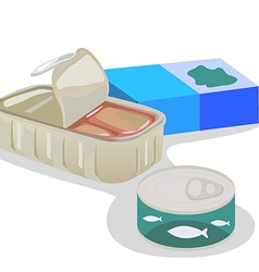 Canned fish vector