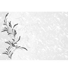 Floral ornament with grunge background vector
