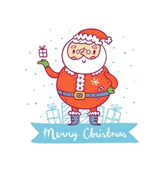 Santa claus christmas greetings vector