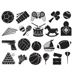 Doodle design of the different toys vector
