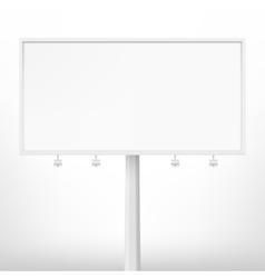 Blank white billboard vector
