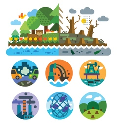 Ecological problems vector
