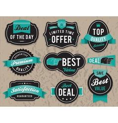 Retro retail badges vector