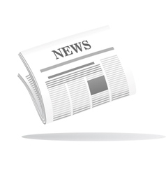Folded newspaper with the header news vector