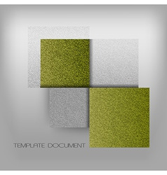 Business four squares green with text grain vector