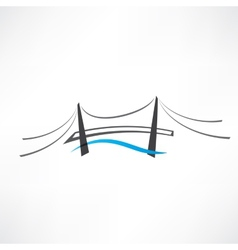 Abstract road bridge icon vector