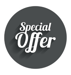 Special offer sign icon sale symbol vector