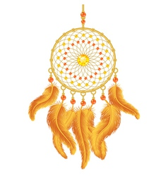 Golden dream catcher vector