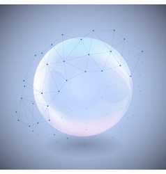 Sphere on blue background vector