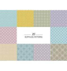 Set of geometric seamless patterns vector