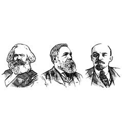 Lenin marx engels vector