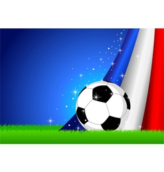 Soccer and nation flag vector