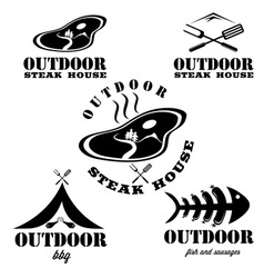 Steak house and bbq outdoor vector