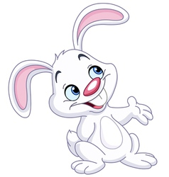 Bunny presenting vector