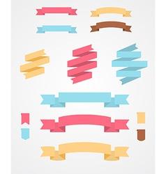 Set of flat ribbons vector