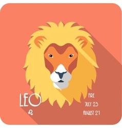 Zodiac sign leo icon flat design vector
