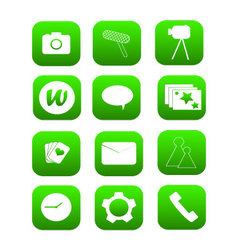 Phone icons green vector