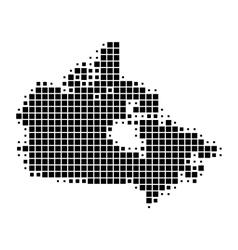 Map of canada vector