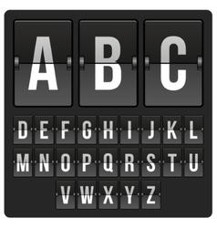 Scoreboard with alphabet vector