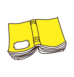 Yellow book vector
