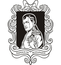 Portrait of napoleon bonaparte vector