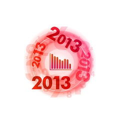 Abstract circle numbers red down 2013 vector