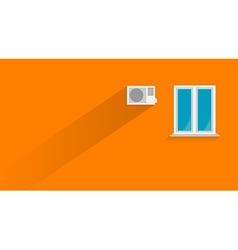 Flat of orange wall vector