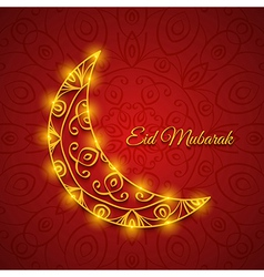 Moon for muslim community festival eid mubarak vector
