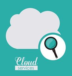 Cloud services design vector