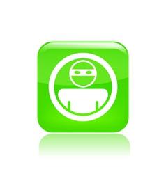 Thief icon vector