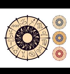 Zodiacal circle vector
