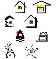 Logo elements house vector