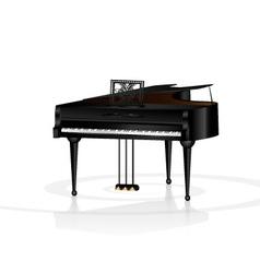 Piano in white room vector