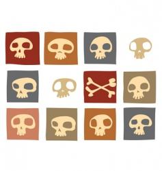 Funny skulls vector