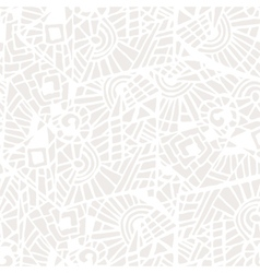 Seamless abstract mosaic white and gray pattern vector