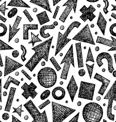 Seamless pattern with sketchy objects vector