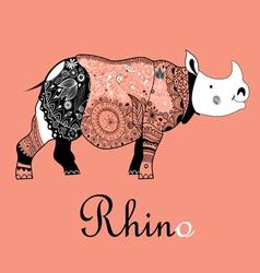 Rhino patterned vector