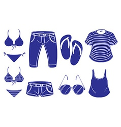 Summer outing outfits vector