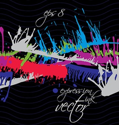 Bright contrast splattered web design repeat vector
