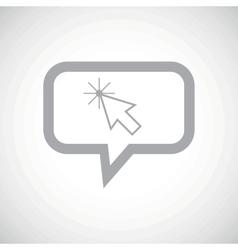 Arrow cursor grey message icon vector