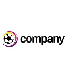 Football soccer ball logo vector