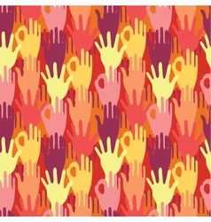 Hands in the crowd seamless pattern background vector