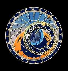 Astronomical clock vector